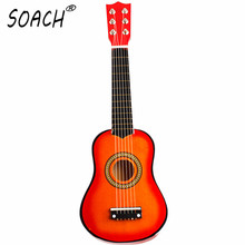 SOACH ukulele concert 21 Inch 6 String Acoustic Guitar Kids Beginners Practice Musical toy wooden Musical instruments guitar