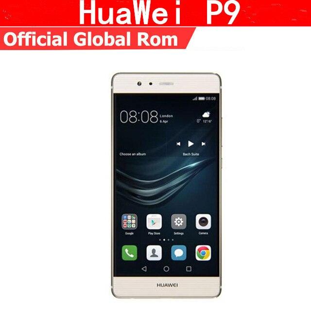 """Международная прошивка Huawei P9 4G LTE сотовый телефон Kirin 955 Android 6,0 5,2 """"FHD 1920X1080 4G B Оперативная память 6 4G B Встроенная память 12.0MP отпечатков пальцев"""