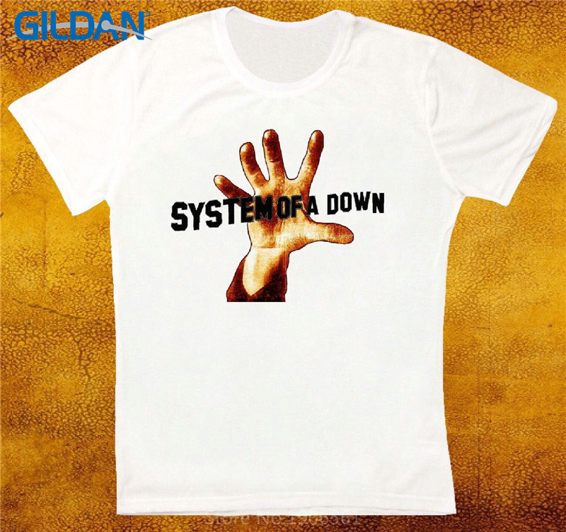 T Shirt Shop Short Men System Of A Down Hand O-Neck Fashion 2017 Tees