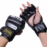 2016 New Brand MMA Boxing Gloves Top Quality PU Leather MMA Half Fighting Boxing Gloves Competition
