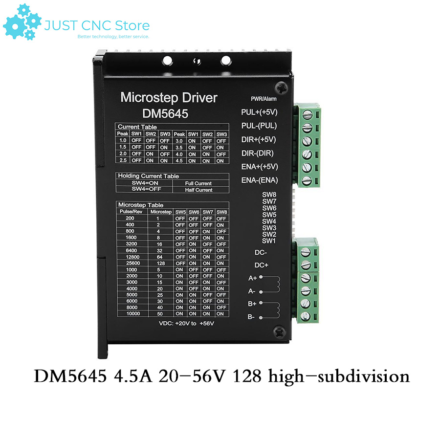DM5645 128 high subdivision 4.5a two-phase stepper motor driver 57 86 step replacement M5