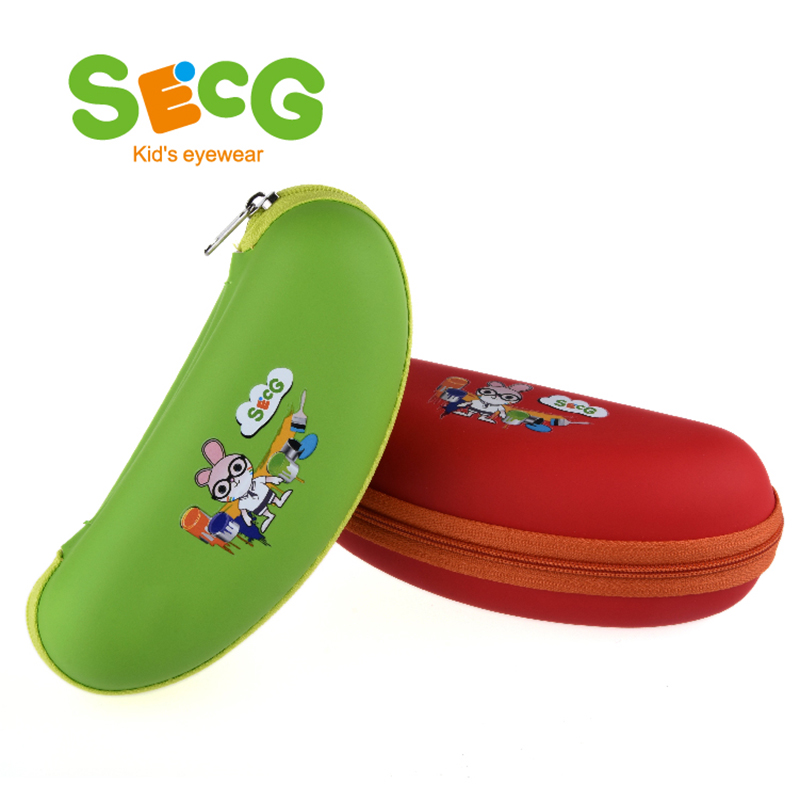 SECG Cute Spectacle Glasses Case Eyeglass Protector Glasses Box Bag Zipper Brand Designer Kids Accessories