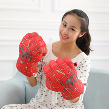 Super Cool MARVEL SPIDERMAN Hulk Boxing Gloves Playing Cosplay Christmas Gift For Kinds Children 25cm 15cm