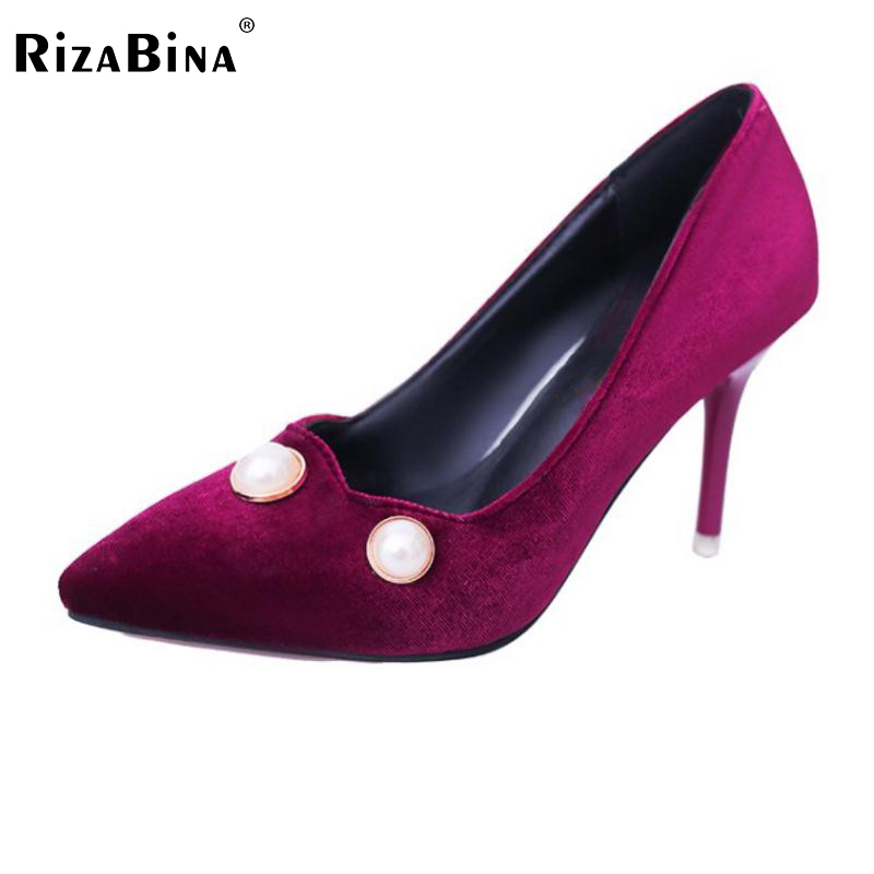 Women High Heel Shoes Pointed Toe Classics Pumps Beading Thin Heels Shoes Women Pure Color Sexy Daily Lady Footwear Size 34-39 women s geniune leather high heels shoes women pointed toe pure color high heeled pumps office lady sexy footwear size 33 40