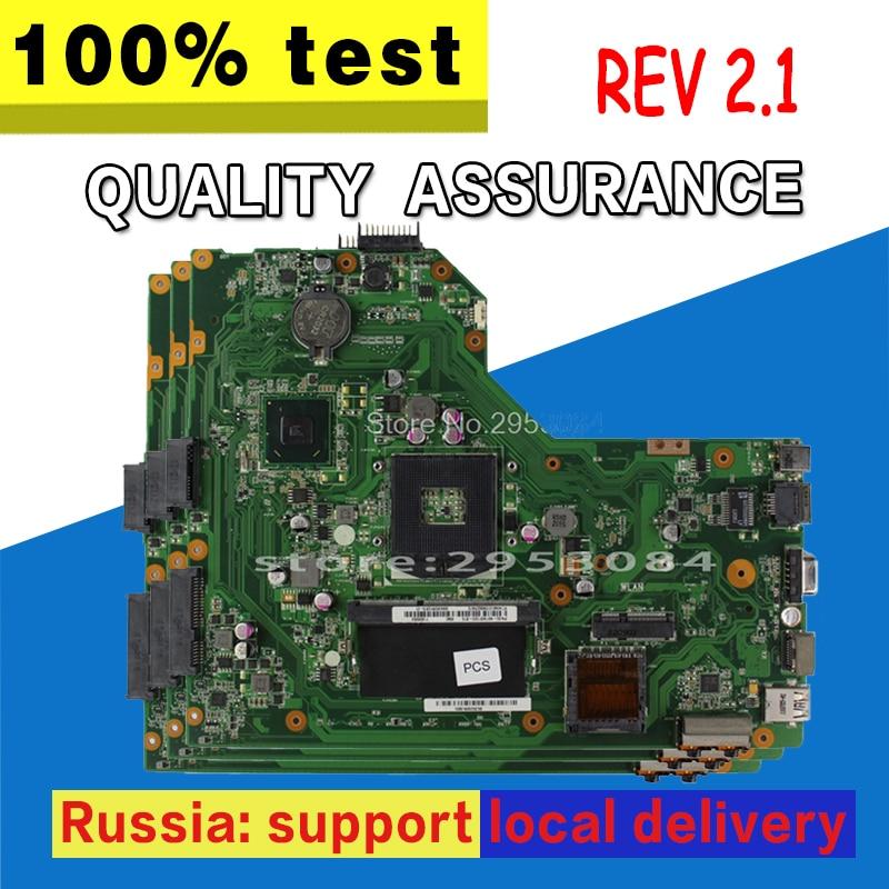 Original For ASUS K54C X54C Laptop Motherboard K54C REV:2.1 HM65 PGA989 USB3.0 DDR3 VRAN 60-N9TMB1000 With Ram 100% Tested Fast