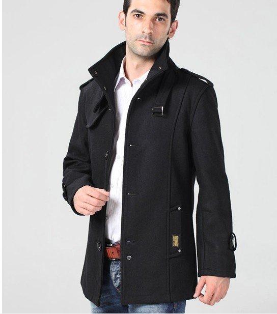Online Shop Big Plus Size Jacket Fashion Men Wool Coats Trench ...