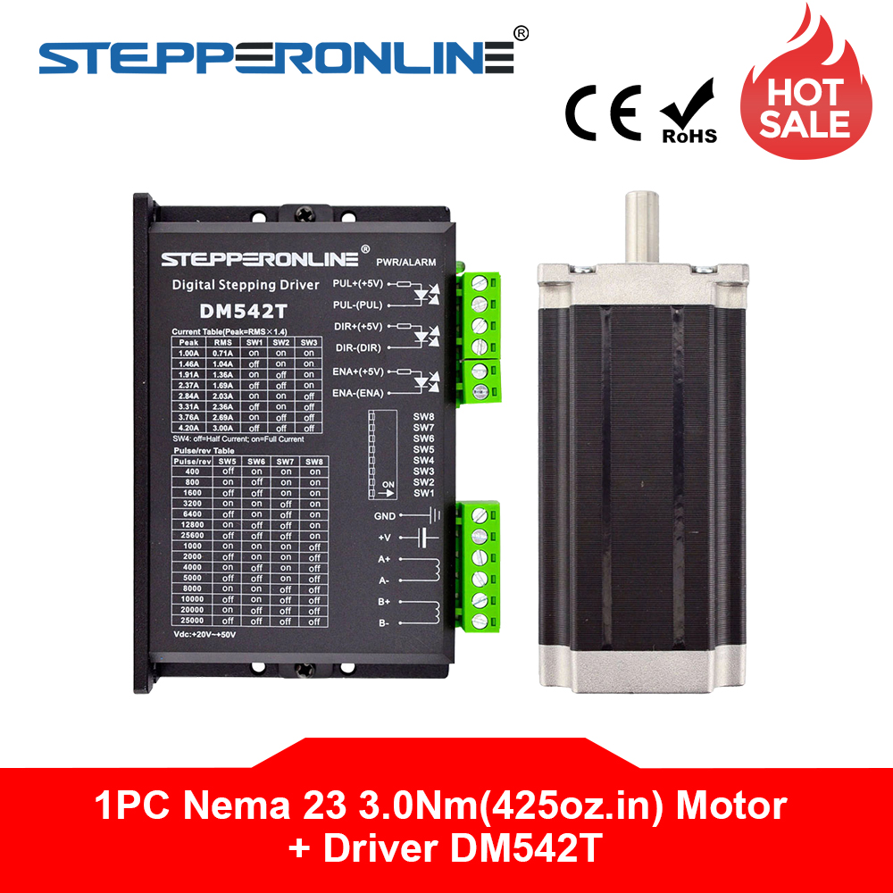 1 Axis Stepper CNC Kit 3 0Nm 425oz in Nema 23 Stepper Motor Driver