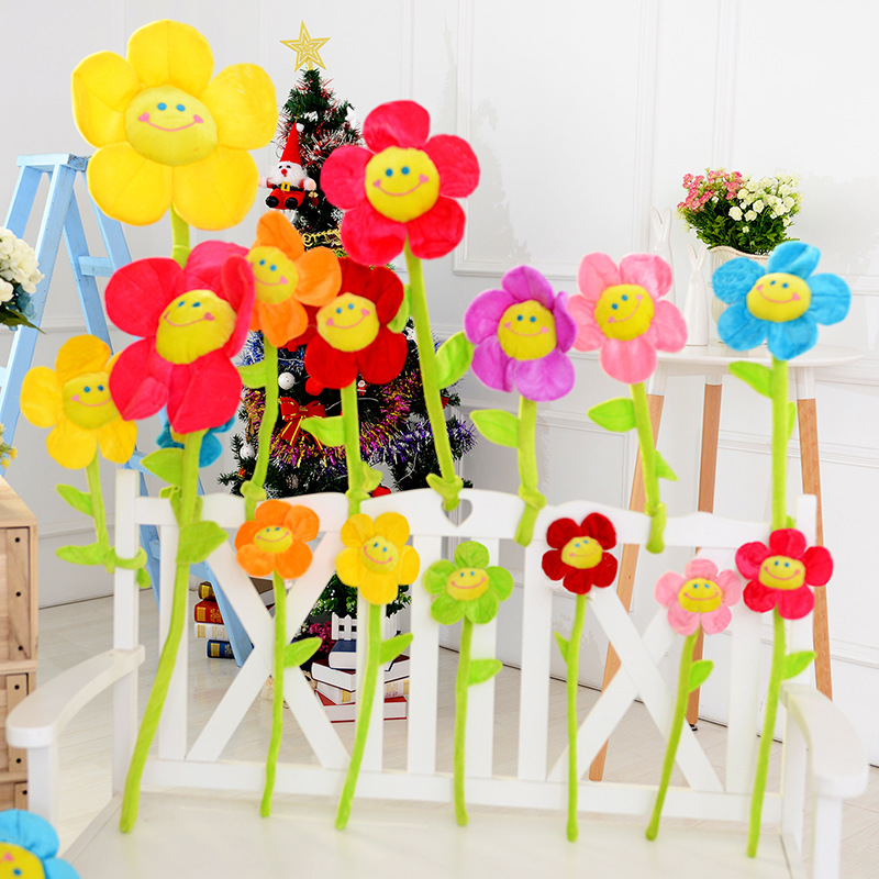 Cute Large Plush Toy Fabric Sun Flower Creative Flower Arrangement Curtain Buckle Small Flower Girl Birthday Gift