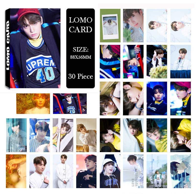 KPOP Bangtan обувь для мальчиков альбом JUNGKOOK ломо карты K-POP Новая Мода Self Made бумага фото карты HD Photocard Бесплатная доставка 30 шт.