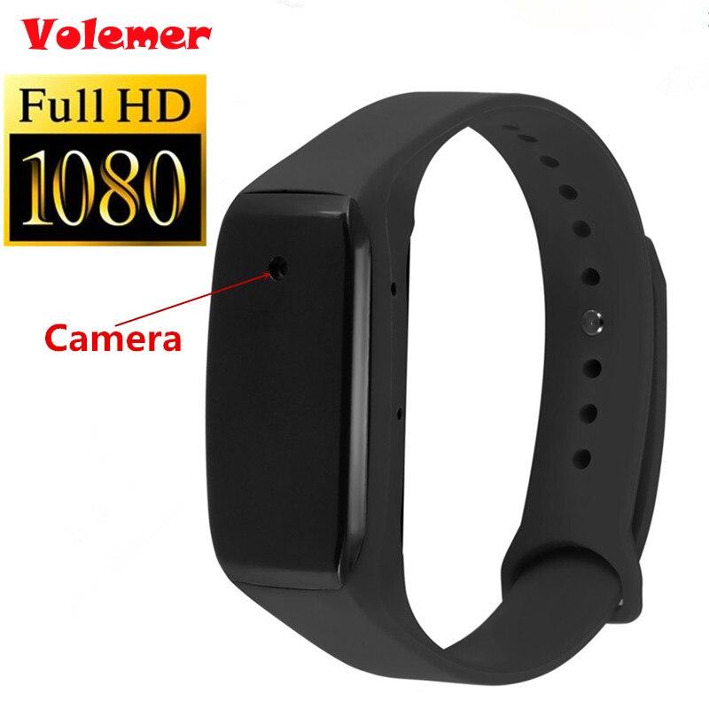 Volemer 2017 Nouveau Portable Bracelet Caméra HD 1080 P Vie Vidéo Enregistreur Bracelet Mini Caméscopes Soutien Micro SD PK SQ11