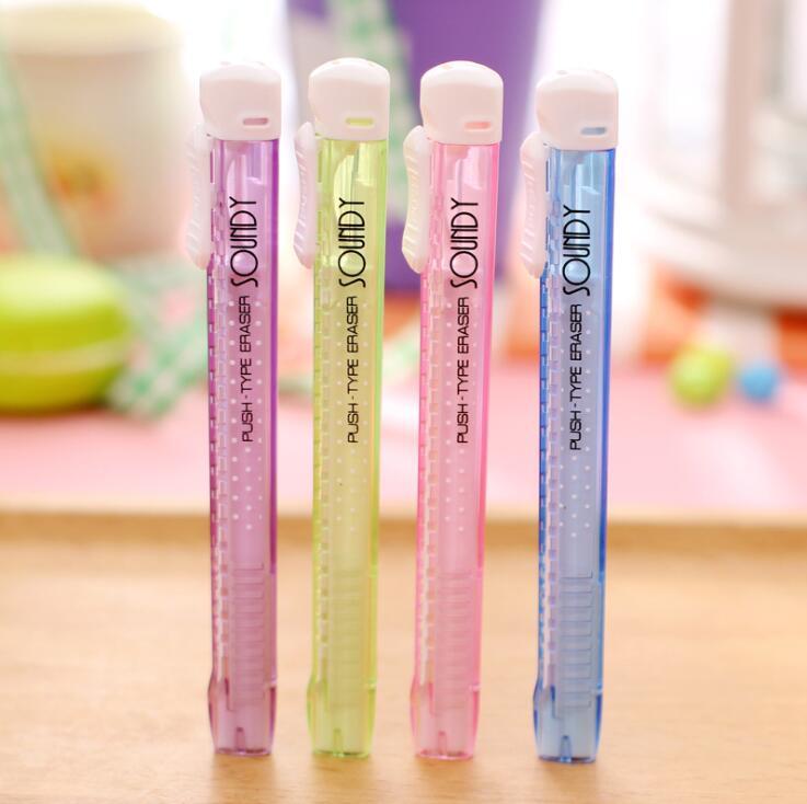 Triangle Push-pull Pencil Eraser 4PCS/Lot Erasable Corner Fine Erasers Kids School Supplies