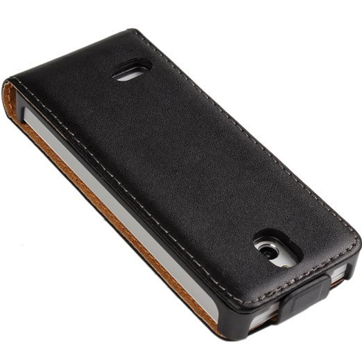 For Nokia 515 Flip Cover Sleeve Genuine Leather Case,Magnetic Leather Case For Nokia 515