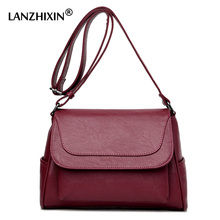 Lanzhixin Women Designer Tote Bags High Quality Wild Women Leather Retro Bags Vintage Women Messenger Bags Crossbody Bags 0583