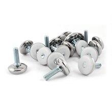 100% Новые Пластиковые Базы Поток Регулировочные Ножки Крепления Колодки M8 х 25 мм 20 Шт. Белый