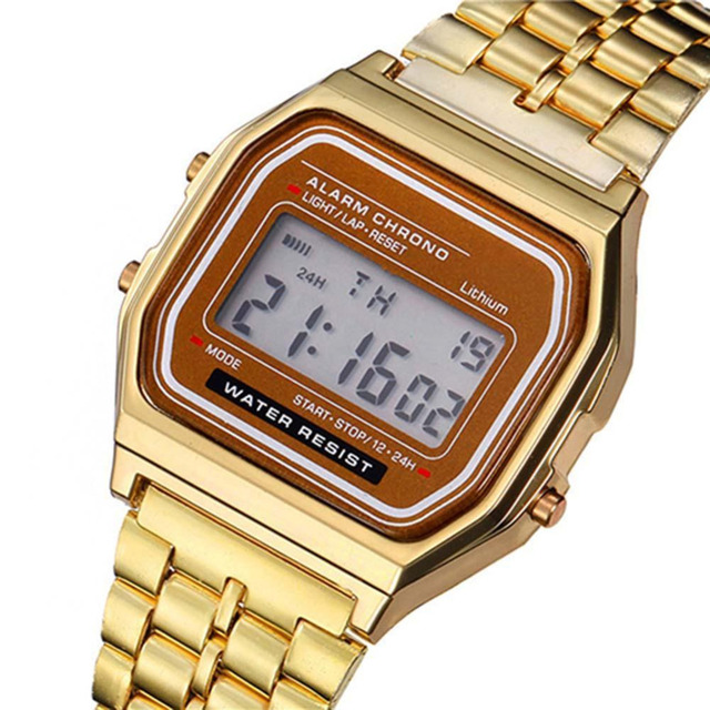 SHSHD Business Men Retro Watch Electronic Watch Fashion Personality's Watch Thin