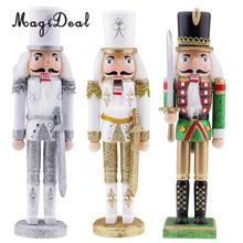 3x Christmas Walnut Soldiers Tabletop Nutcracker Soldier Ornament Puppet Toy