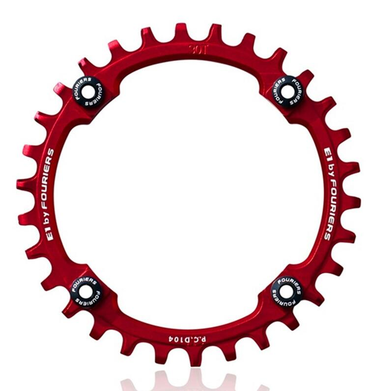 Fouriers CNC Single Chainring P.C.D 104*4mm Bike Bicycle Chain Ring 1 System Compatible For shimano Narrow-wide Tooth