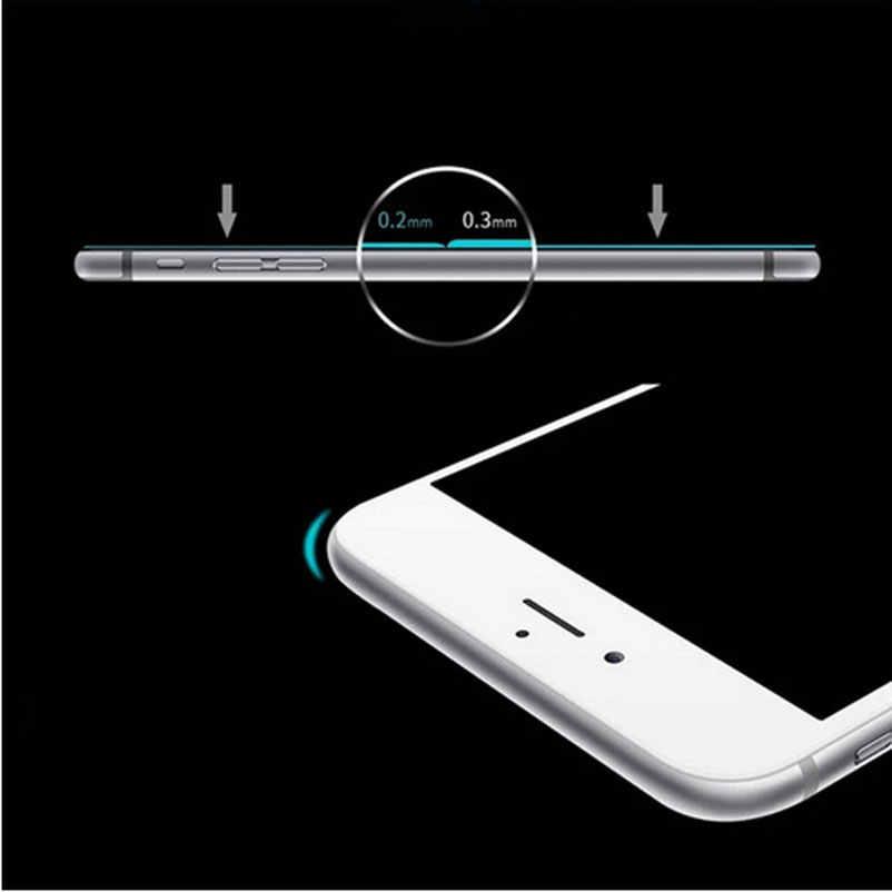 9H Tempered Glass untuk iPhone 11 Pro XS Max XR 8X5 5S 5c Se 6 6 S Plus 7 7S 7 Plus Pelindung Layar Case