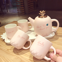 Европейский Керамика ананас моделирование Кофе комплекты творческий Британский день Цветочный чай Чёрный чай установить красивый подарок