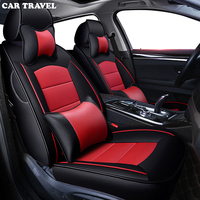 CAR TRAVEL Custom real leather car seat cover for Lincoln MKZ car accessories seat covers full set leather car seat cover auto