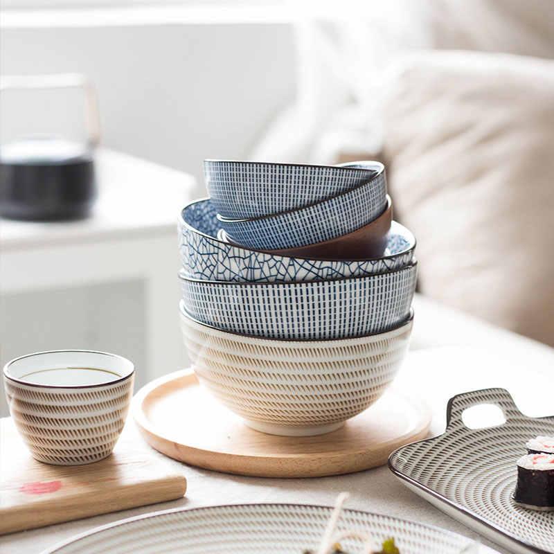 Nimitime cerâmica de alta qualidade colher de arroz e tigelas grande tigela sopa de macarrão utensílios de mesa para o jantar
