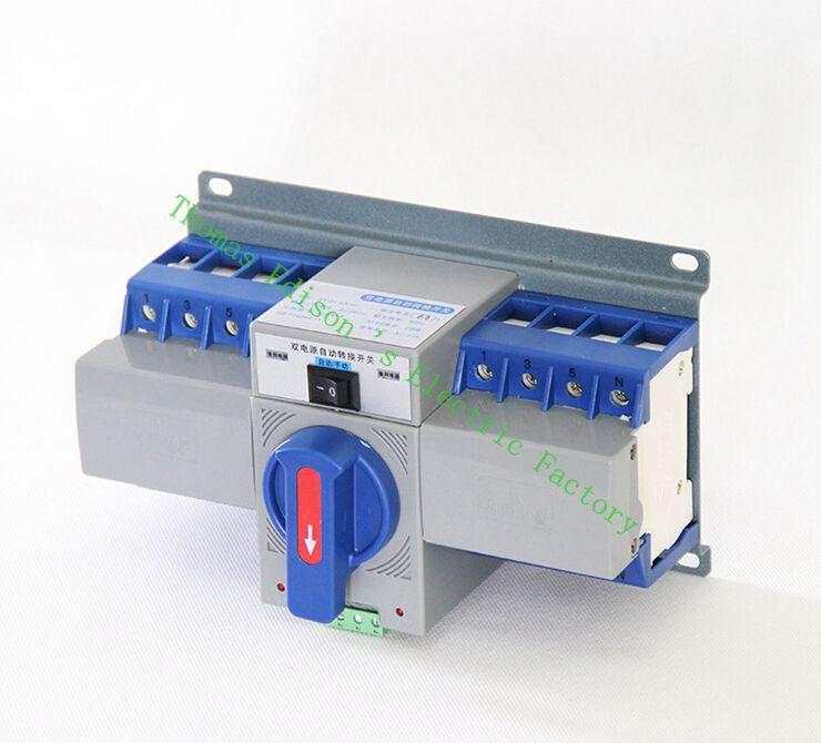 DMWD 4 P 63A MCB Q6-63/4 P type Double Pouvoir commutateur de transfert Automatique