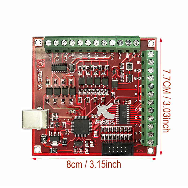 4 Axis 100KHz CNC Motion Controller Card With USB Cable Suitable for Servo/Stepping Motor 7