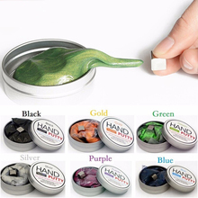 6colors Magnetic Rubber Mud Handgum Hand Gum Silly Putty Magnet Clay Magnetic Plasticine Ferrofluid New DIY