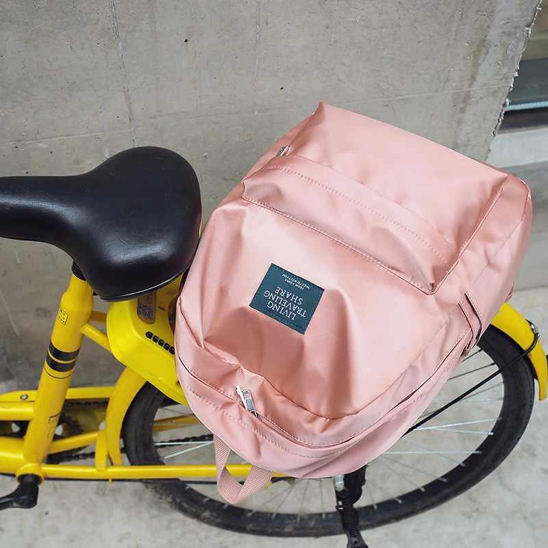 Модный повседневный женский рюкзак, мягкие тканевые рюкзаки для девочек, школьные сумки, нейлоновый походный рюкзак, женский рюкзак Mochila с подарком