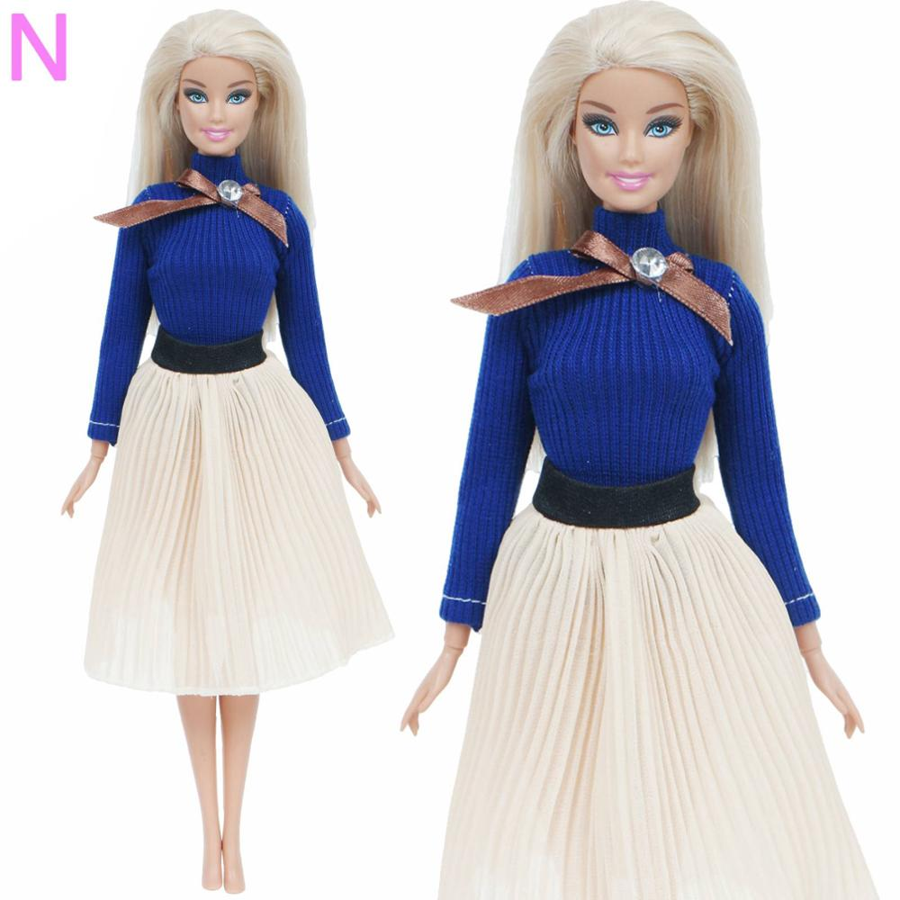 5 x Fashion Sweet Outfit Top Shirt Skirt Pant Daily Clothes For 12 in Doll Gift