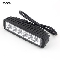 ICOCO Clearance Sale The Lowest Selling 18W 6LED Light BAR FLOOD BEAM Work Driving OFF ROAD