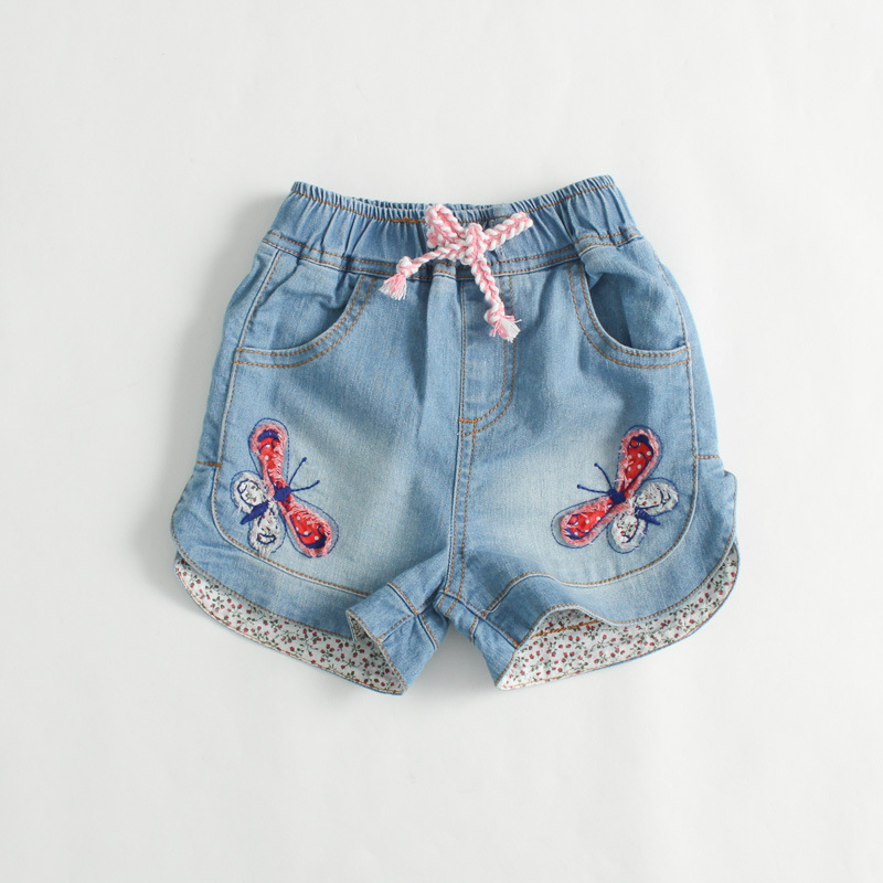 FORIDA KIDS Baby Girls Shorts Jeans Summer Fashion Butterfly Design Cotton Clothes Toddler Girl ...