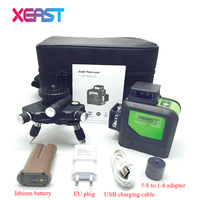 XEARST 3D XE 903 12Lines Green Laser Levels Self Leveling 360 Horizontal And Vertical Cross Super