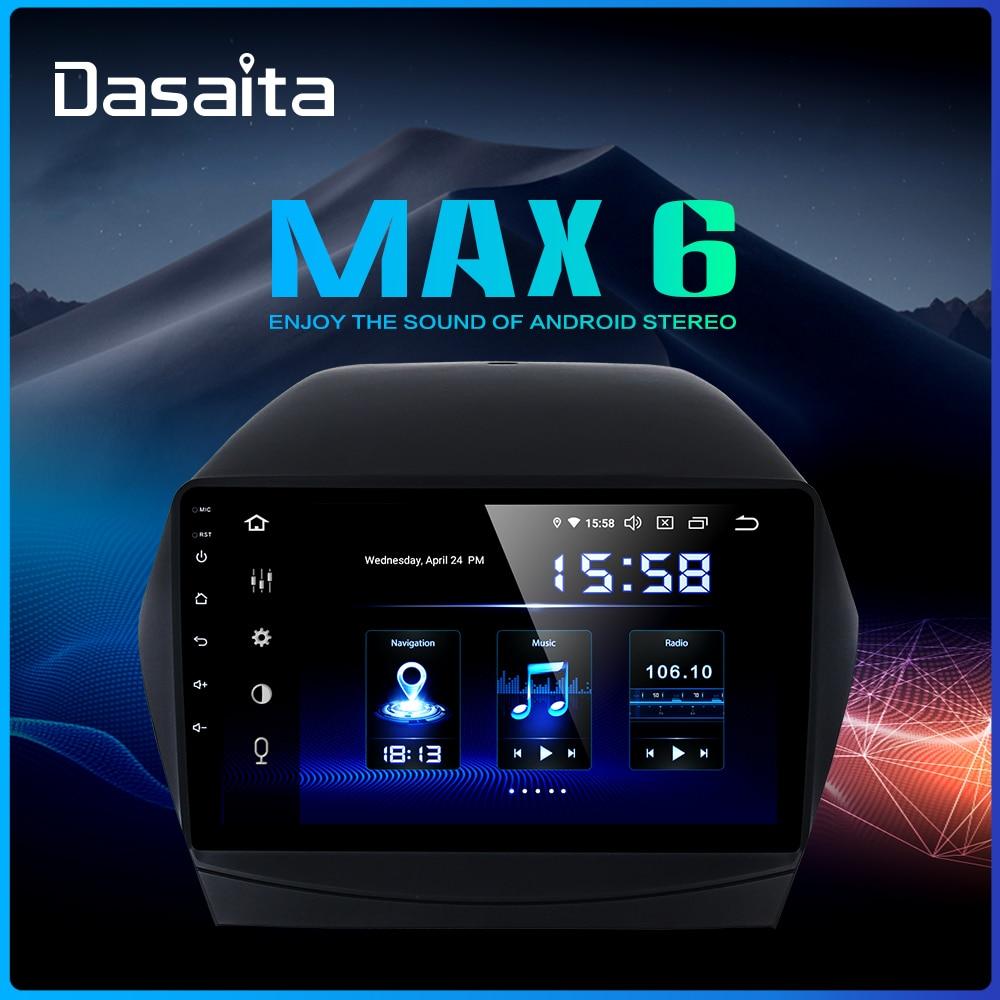 Dasaita 9 Display Car 1 Din Radio Android 9 0 for Hyundai IX35 2009 2015 USB