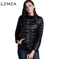 LZMZA 2017มาถึงฤดูใบไม้ผลิฤดูใบไม้ร่วงผู้หญิงแจ็คเก็ตคู่ด้านสวมใส่แสงบางลงหญิง