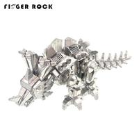 3D Metal Puzzle Dinosaur Locke DIY Assembly Model Kids Stainless Steel Laser Cutting Animals Jigsaw Toys