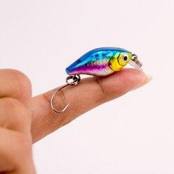 1 PCS 2g 3 cm Wobbler Japan Mini Fly Angeln Crankbait Kurbeln Locken Köder Crankbait Kunststoff Wobbler Fischerei Locken