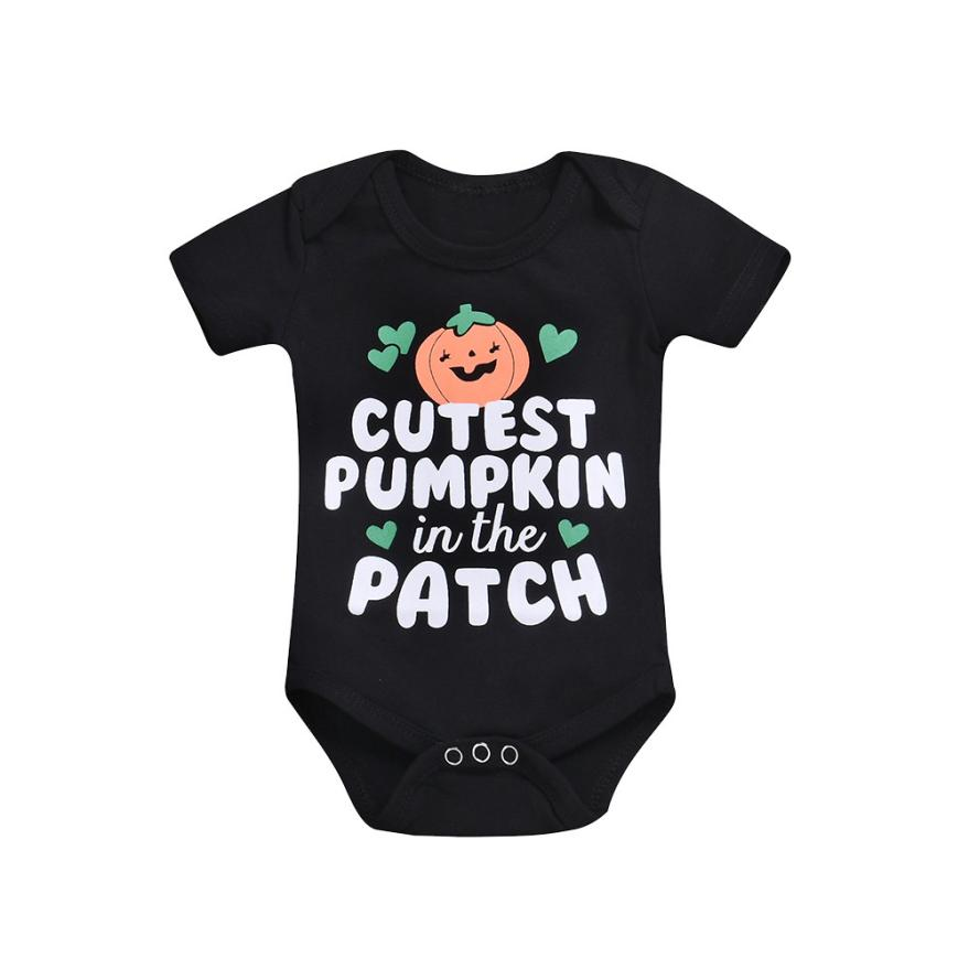 TELOTUNY baby rompers halloween costume baby Infant Baby Girls Boys Letter Print Romper Jumpsuit Halloween Outfits  Z0829