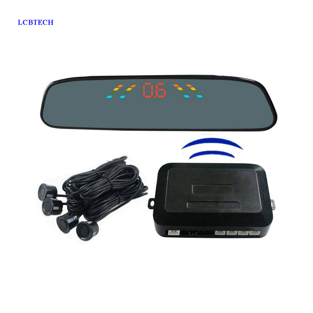 Wireless Radar Detector >> Us 23 99 25 Off 4pcs Car Reversing Radar Camera Wireless Parking Sensor Rear View Radar Detector Led Display Automatic Auxiliary Car Parking In