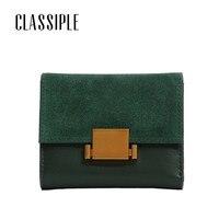 Wallet Women Small Scrub Split Leather Mini Wallets ID Card Holder Wallet Purse Green Leather Wallets for Lady Clutch Female