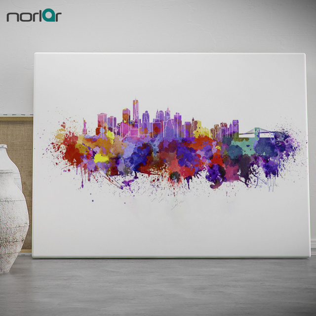HD Printed Canvas Painting Wall Art picture New York Skyline in ...