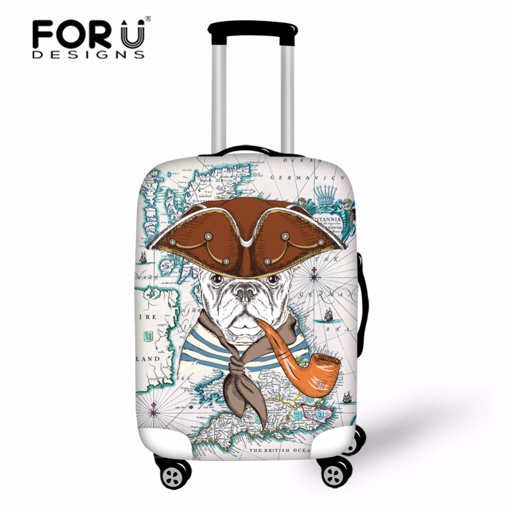 FORUDESIGNS Interesting Math with Dog Print Suitcase Protective Cover Travel Accessories, Suitable for 18-30 Inch Suitcase Dust ...