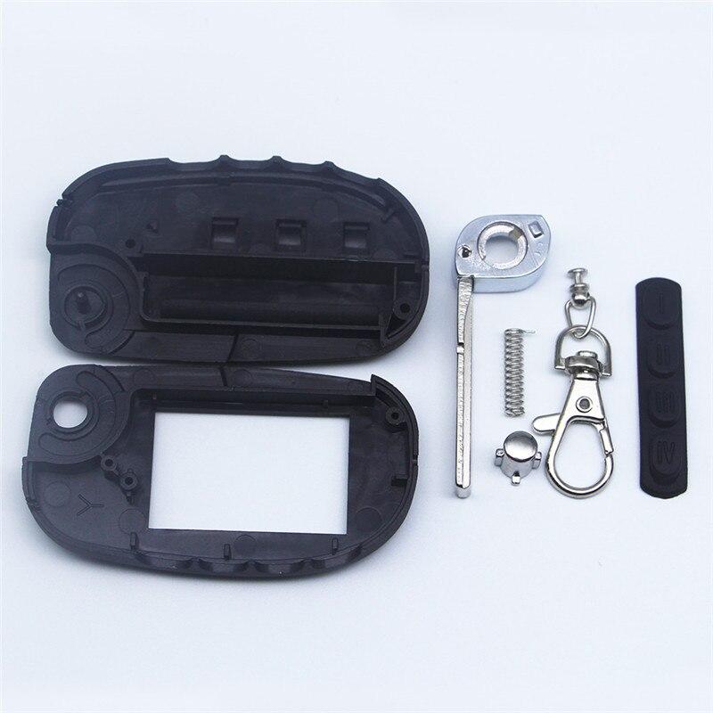Magicar 7 Switchblade Key Case For Scher Khan Magicar 7 9 Fold Uncut Blade Fob Case Cover M7 M9 Folding Car Flip Remote
