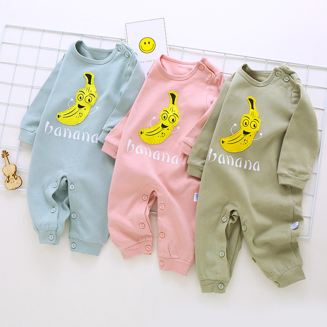 219573ac9 Summer spring Baby Romper Long Sleeves Thick Cotton Baby Pajamas ...