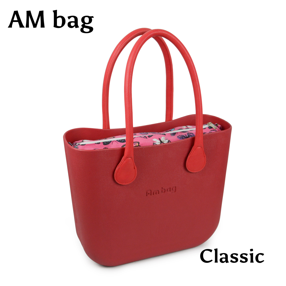 ANLAIBEIER New Obag style Classic big Ambag EVA bag with waterproof floral canvas insert inner pocket