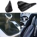 2pcs PU Leather Hand Brake Shift Knob Cover Gear Case Car Interior Decoration for bmw 3 Series E36 E46 M3