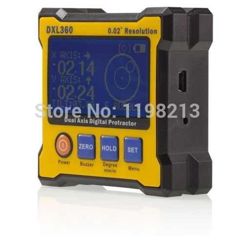 ФОТО ( Biaxial ) inclinometer / digital level / angle ruler / protractor / level of foot / DXL360