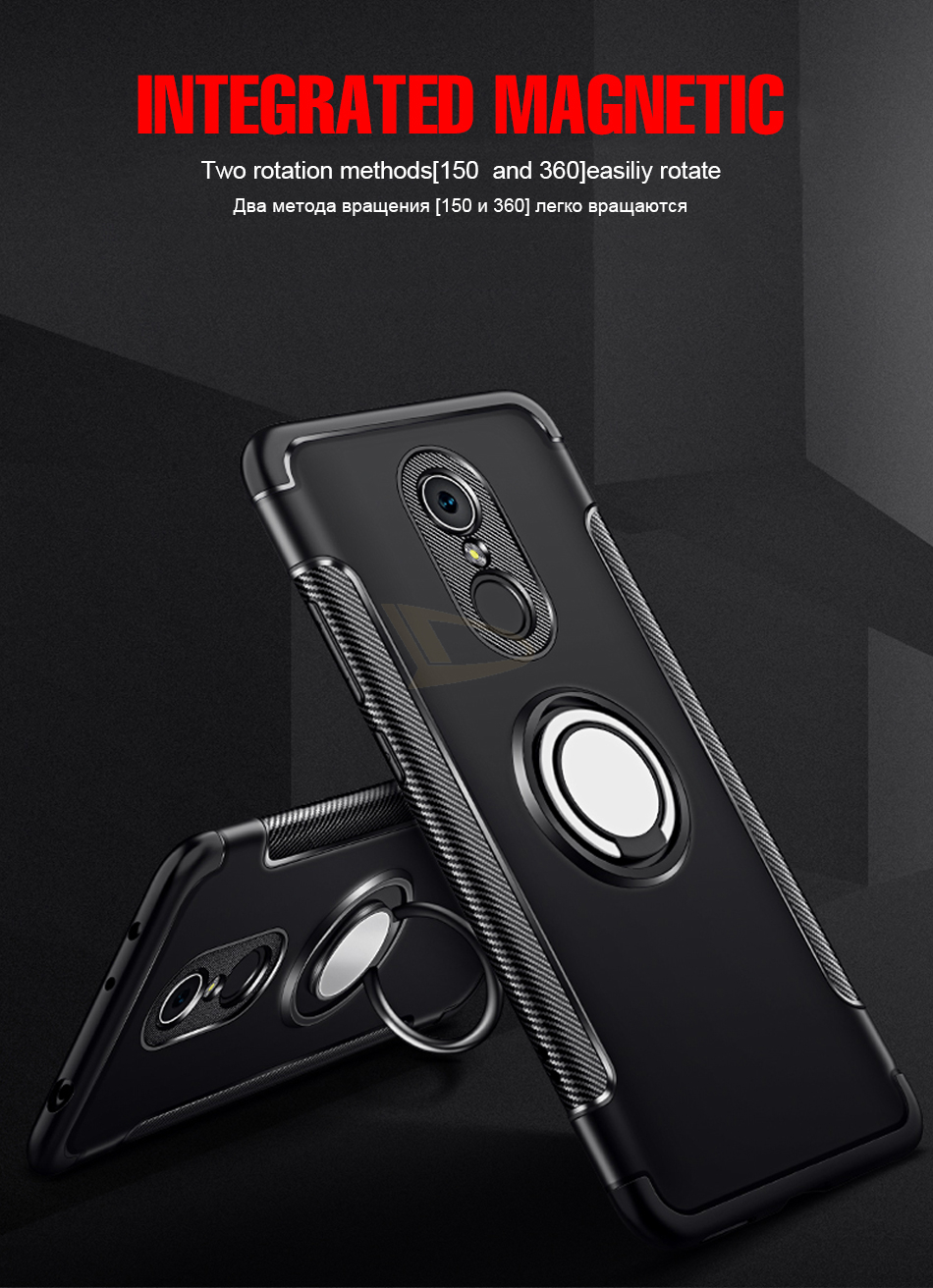 HTB1KAIZc6bguuRkHFrdq6z.LFXae Luxury Soft Shockproof Case For Xiaomi Redmi 4X Note 4 4X Full Cover For Redmi 5 PLus Note 7 Pro 6 6A Hard PC Bracket Ring Cases