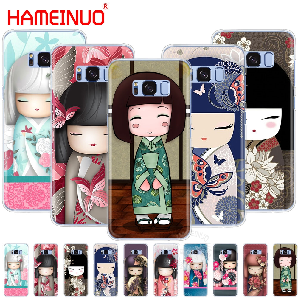 HAMEINUO kawaii Japanese Kokeshi Doll cell phone case cover for Samsung Galaxy S9 S7 edge PLUS S8 S6 S5 S4 S3 MINI