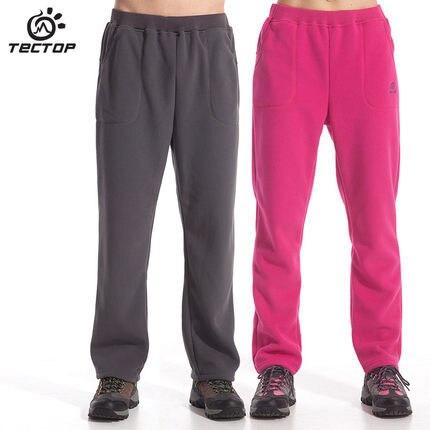 Tectop Thermal Fleece Hiking Pants For Men Women Winter Outdoor Sports Camping Pants Warm Fleece Trousers Winter Fleece
